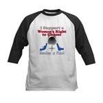 Woman's Choice pro-gun Kids Baseball Jersey