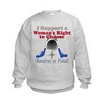 Woman's Choice pro-gun Kids Sweatshirt