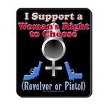 Woman's Choice pro-gun Mousepad