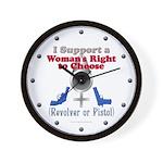 Woman's Choice pro-gun Wall Clock