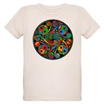 Celtic Stained Glass Spiral Organic Kids T-Shirt