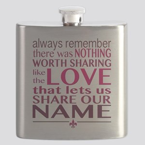 Avett Brothers Always Remember Quote Flask