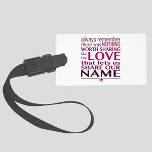 Avett Brothers Always Remember Quote Luggage Tag