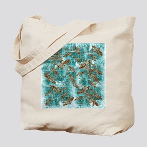 Dragonfly Waterfall Tote Bag
