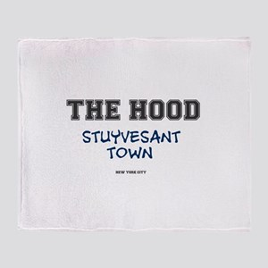 THE HOOD - STUYVESANT TOWN - NEW YOR Throw Blanket