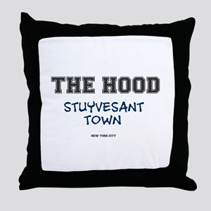 THE HOOD - STUYVESANT TOWN - NEW YORK Throw Pillow