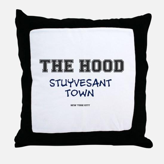 THE HOOD - STUYVESANT TOWN - NEW YORK Throw Pillow