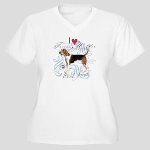 Treeing Walker Women's Plus Size V-Neck T-Shirt