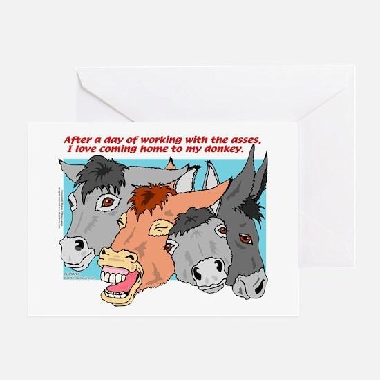 Donkey Work Greeting Card