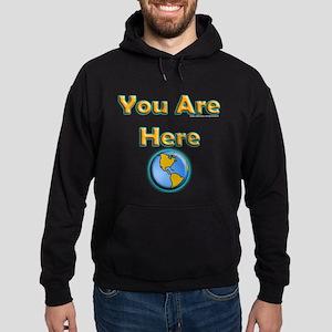 You Are Here Hoodie (dark)