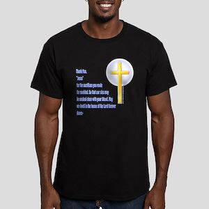 Prayer Men's Fitted T-Shirt (dark)
