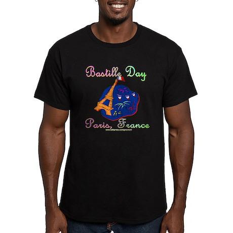 Bastille Day! Men's Fitted T-Shirt (dark)
