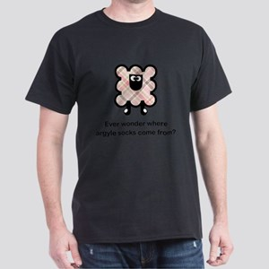 Two-sided Argyle Sheep Dark T-Shirt