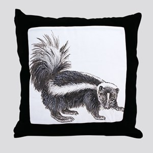 Striped Skunk Throw Pillow