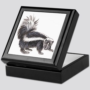 Striped Skunk Keepsake Box