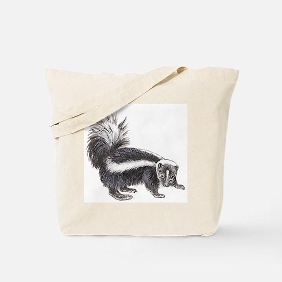 Striped Skunk Tote Bag