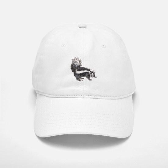 Striped Skunk Baseball Baseball Cap