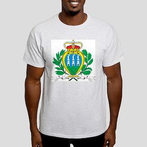 San Marino Coat Of Arms Ash Grey T-Shirt