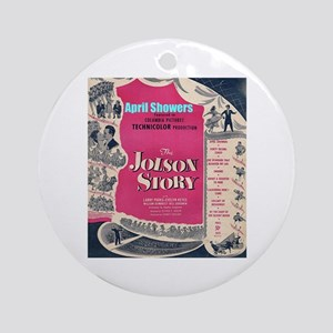 """""""The Jolson Story"""" Ornament (Round)"""
