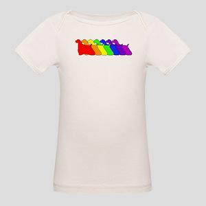 Rainbow Cocker Spaniel Organic Baby T-Shirt