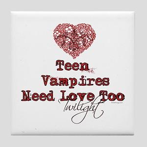 Teen Vampires Need Love Too Tile Coaster