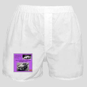 """""""1973 Triumph TR6 Ad"""" Boxer Shorts"""