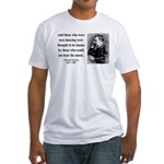 Nietzsche 38 Fitted T-Shirt