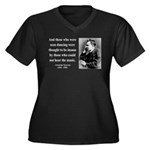 Nietzsche 38 Women's Plus Size V-Neck Dark T-Shirt