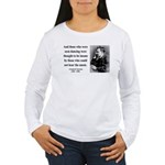 Nietzsche 38 Women's Long Sleeve T-Shirt