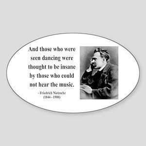 Nietzsche 38 Oval Sticker