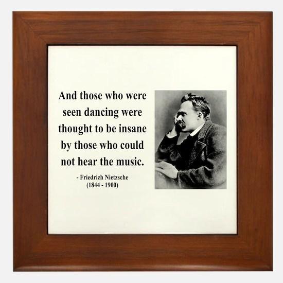 Nietzsche 38 Framed Tile
