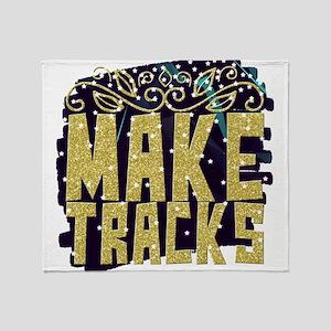 Make tracks Throw Blanket