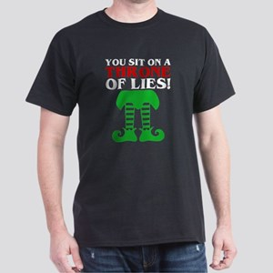 You Sit On A Throne Of Lies Christmas Elf T-Shirt