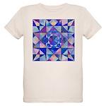 Blue Quilt Watercolor Organic Kids T-Shirt