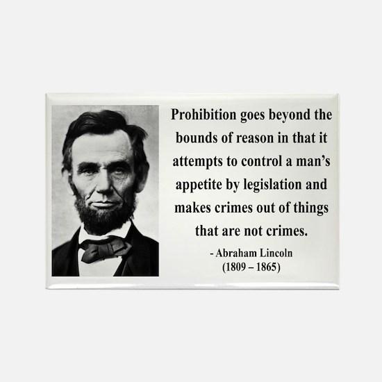 Abraham Lincoln 35 Rectangle Magnet