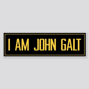 """I AM JOHN GALT"" Bumper Sticker"