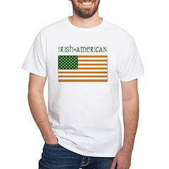Irish-American Flag White T-Shirt
