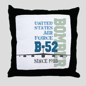 B-52 Bomber Military Aircraft Throw Pillow