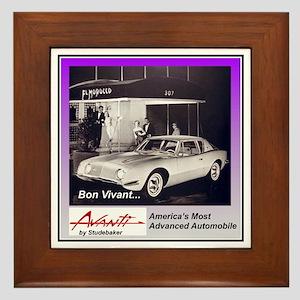 """""""1962 Avanti Ad"""" Framed Tile"""