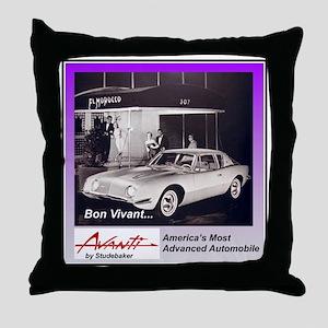 """1962 Avanti Ad"" Throw Pillow"