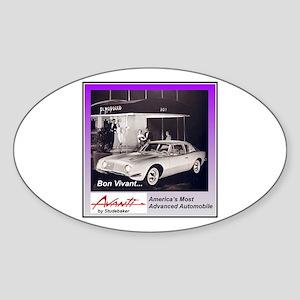 """1962 Avanti Ad"" Oval Sticker"