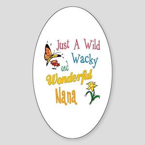 Wonderful Nana Sticker (Oval)