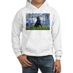 Lilies / Flat Coated Retrieve Hooded Sweatshirt