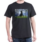 Lilies / Flat Coated Retrieve Dark T-Shirt
