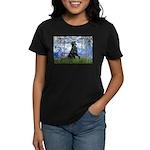 Lilies / Flat Coated Retrieve Women's Dark T-Shirt