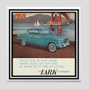 """1959 Lark Ad"" Tile Coaster"