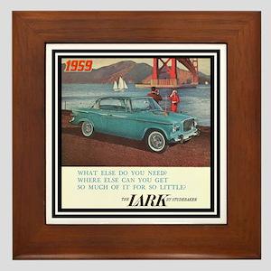 """""""1959 Lark Ad"""" Framed Tile"""