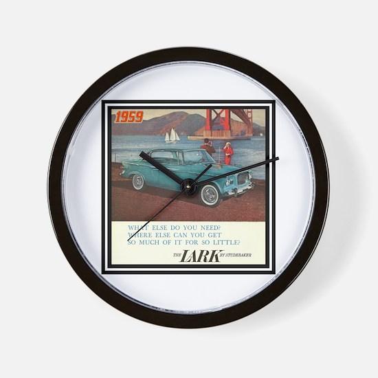 """1959 Lark Ad"" Wall Clock"