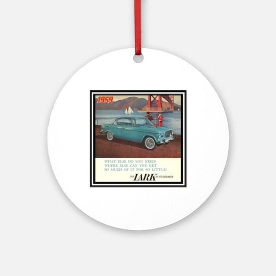 """""""1959 Lark Ad"""" Ornament (Round)"""
