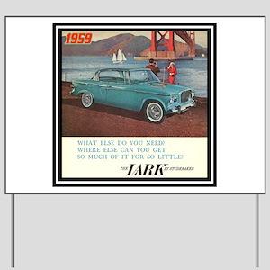 """1959 Lark Ad"" Yard Sign"